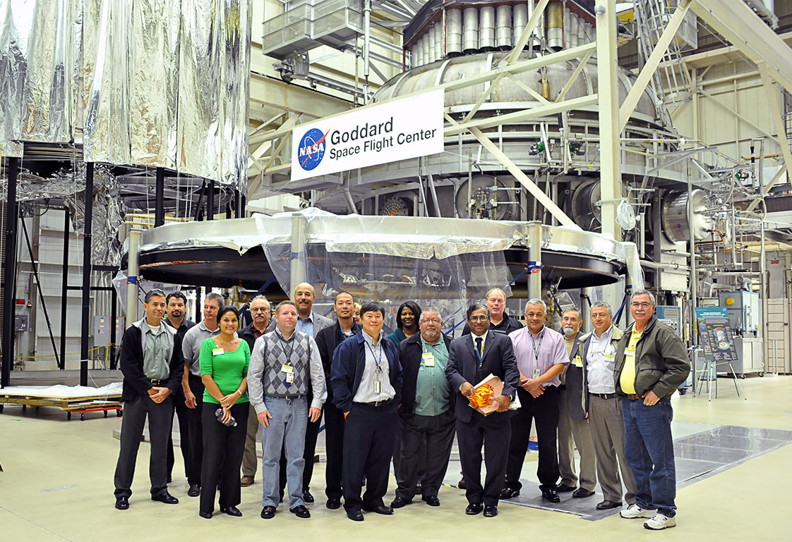 Full size image for Participants in the 2012 conference on a guided tour of GSFC facilities