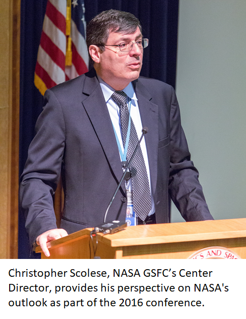 Christopher Scolese, NASA GSFC's Center Director, provides his perspective on NASA's outlook as part of the 2016 conference.